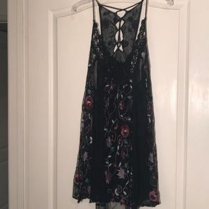 Free People Embroidered Mini Dress.